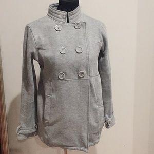 Olivia Sky grey sweatshirt coat